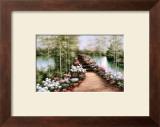 Bridge of Flowers Print by Diane Romanello