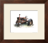 Early Model Farmall Tractor Print by Sharon Pedersen