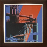 Brooklyn Bridge, c.1983 (pink, red, blue) Poster by Andy Warhol