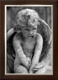 Cherub Statue Framed Giclee Print by Charles Glover