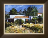 Mountain Farmstead Limited Edition Framed Print by Davy Brown