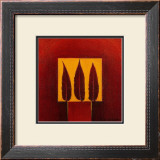 3 Feathers in a Square Prints by Pascale Nesson