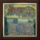 Villa on the Attersee Framed Giclee Print by Gustav Klimt