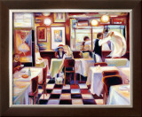 Bistro de la Nuit II Print by Lisa Homan-Conger