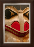 Eagle Totem, Alaska Framed Giclee Print by Charles Glover