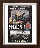 Vintage Russian Fish Cannery Advertisement Framed Giclee Print
