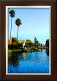Two Palm Trees in the Sky Framed Giclee Print by Jack Heinz