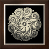 Black and Tan Rosette I Print