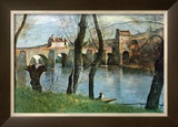 The Bridge of Mantes Posters by Jean-Baptiste-Camille Corot