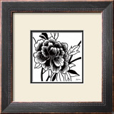 Black Rose I Print by Hilary Anderson