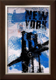 NYC (Blue) Posters by Bobby Hill