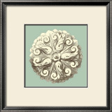 Celadon and Mocha Rosette II Prints
