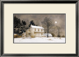 Wolf Moon Print by Ray Hendershot