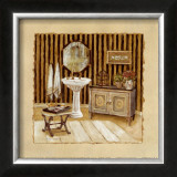 Vintage Bath III Prints by Charlene Winter Olson