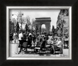 Café on the Champs Elysees, Paris, 1960 Posters