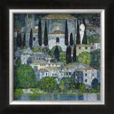 Church in Cassone Framed Giclee Print by Gustav Klimt