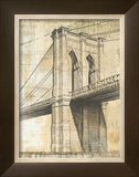 Brooklyn Bridge Print by P. Moss