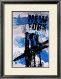 NYC (Blue) Print by Bobby Hill