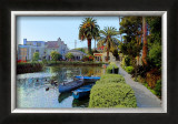 Little Boats on Canal Framed Giclee Print by Jack Heinz