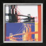 Brooklyn Bridge, c.1983 (black bridge/white background) Posters by Andy Warhol