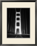 1937 Golden Gate Bridge at Night Poster Framed Giclee Print by Photo Archive Underwood