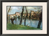 The Bridge of Mantes Poster by Jean-Baptiste-Camille Corot