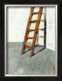 Echelle Sur Mur Blanc Prints by Joël Gangloff