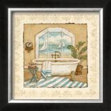 Ocean View Bath II Prints by Charlene Winter Olson