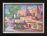 The Pink Adobe Art by Doug Magnus