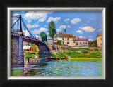 Brucke von Villeneuve La Garenne Bridge Prints by Alfred Sisley