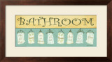 Bath Towels, Bathroom Prints by Grace Pullen