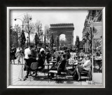 Café on the Champs Elysees, Paris, 1960 Prints