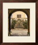 Courtyard Clock Print by Kenneth Gregg