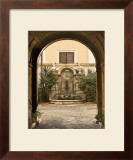 Courtyard Clock Print by Kenneth Gregg