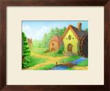 A Lovely House Framed Giclee Print by Kyo Nakayama