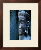 Angkor Wat Face, Cambodia Framed Giclee Print by Charles Glover
