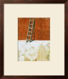 Echelle Sur Mur Rouge Prints by Joël Gangloff