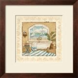 Ocean View Bath II Print by Charlene Winter Olson