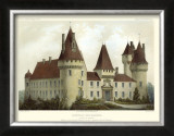 Petite French Chateaux I Print by Victor Petit