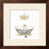 Animalier Bathroom I Poster by A. Varese