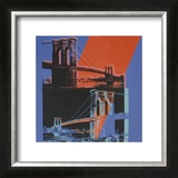 Brooklyn Bridge, c.1983 (pink, red, blue) Posters by Andy Warhol