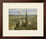 Balloon Ride over Vienna, c.1847 Prints by Jakob Alt