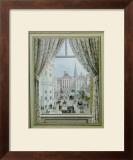 Blick aus dem Fenster auf die Freyung, c.1828 Prints by Balthasar Wigand