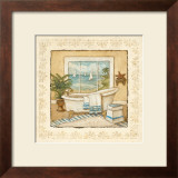 Ocean View Bath I Prints by Charlene Winter Olson