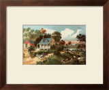 American Homestead Summer Art by Currier &amp; Ives 