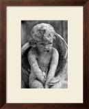 Cherub Statue Framed Giclee Print by Charles Glover