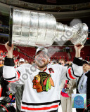 Patrick Sharp with the 2009-10 Stanley Cup Photo