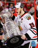 Jonathan Toews with the 2009-10 Stanley Cup Photo