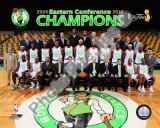 2009-10 Boston Celtics Team with Eastern Conference Champions Photo
