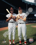 Frank Robinson and Brooks Robinson COLOR Photographie